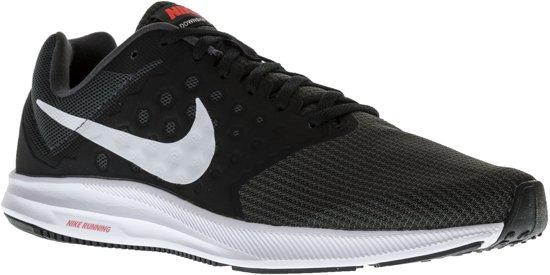 Nike Downshifter 7 Hardloopschoenen - Maat 45 - Mannen - antraciet/zwart/wit