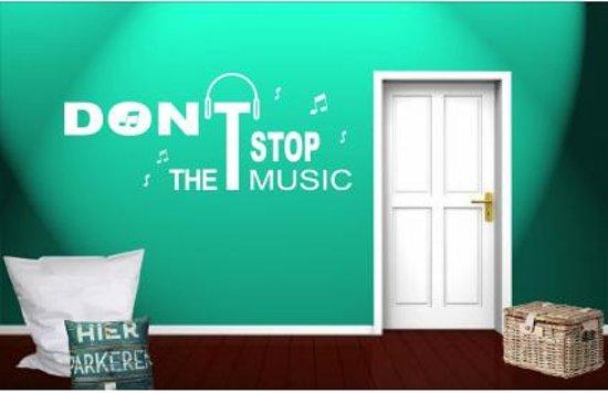 Don't stop the music - Muursticker