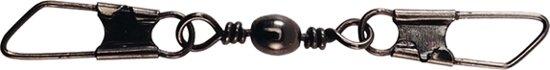 Spro Black Dubbel Safety-Snap Barrel Wartel - Maat 16