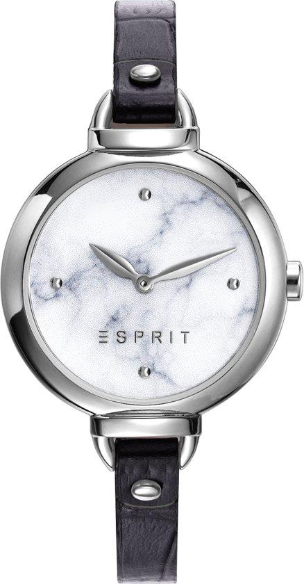 Esprit ES109522004 - Horloge - leren band - Zwart - Ø 32 mm