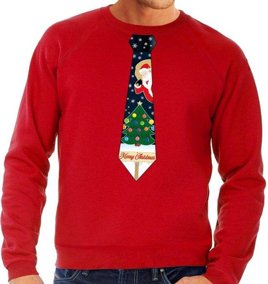 Kersttrui Heren We.Bol Com Foute Kersttrui Sweater Met Stropdas Van Kerst Print