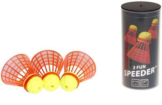 Speedminton Speedertube Fun - 3 stuks - speedbadminton