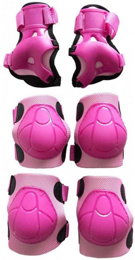Beschermset van knie, elleboog- en polsbeschermers - Medium - Roze