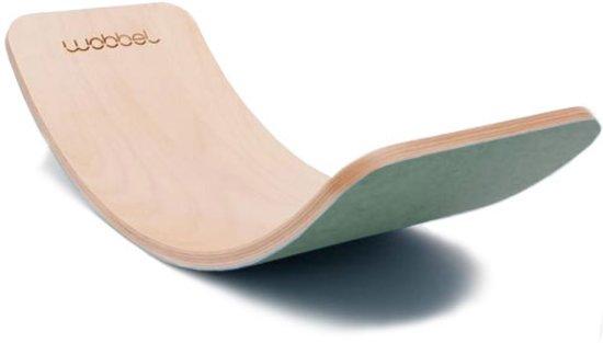 Wobbel Pro Blank gelakt vilt Bos - Balanceboard voor jong en oud - Tijdloos en duurzaam
