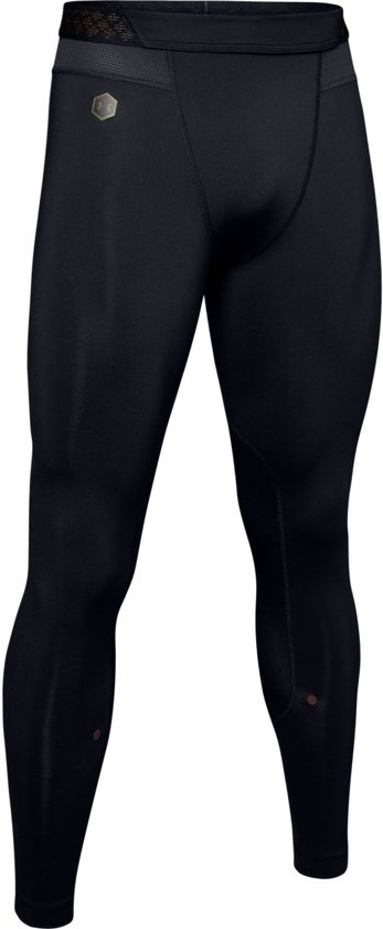 Under Armour HG Rush Leggings Heren Sport Legging - Zwart - Maat M
