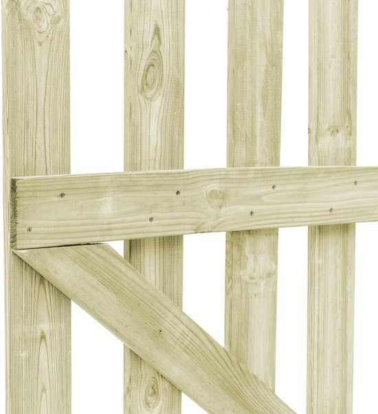vidaXL Poorten 2 st 150x80 cm FSC geïmpregneerd grenenhout
