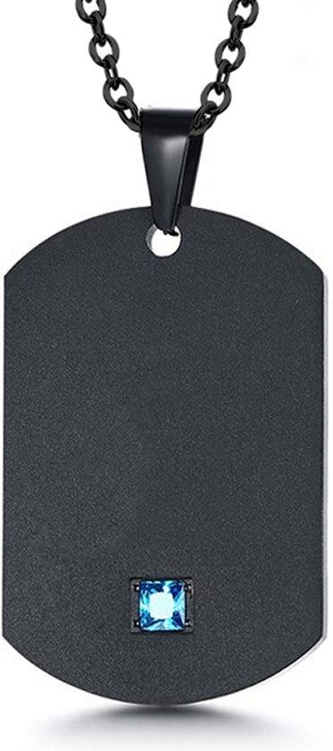 Montebello Collier Satureja - Mannen - 316L Staal - 50 cm