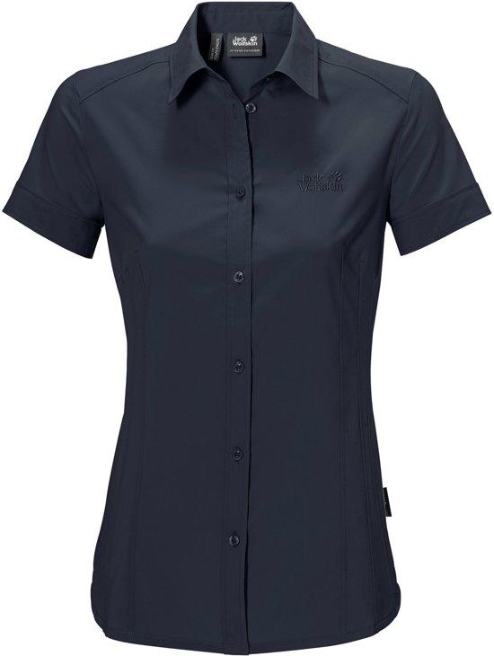 zwarte blouse korte mouw dames