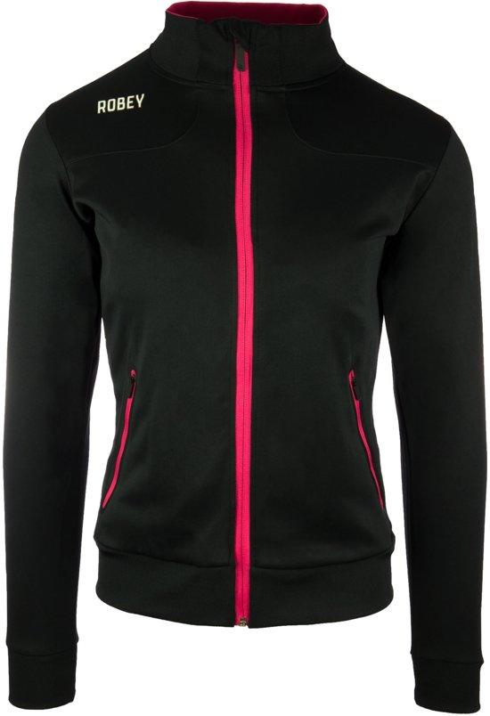 Robey Women Striker Trainingsjack - Voetbaljas - Black/Fuchsia - Maat XXXL