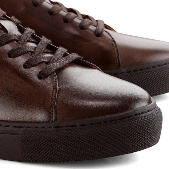 Donkerbruin St Denbroeck Casual Leder Herensneakers Broome Hoogwaardig CZfnqg4