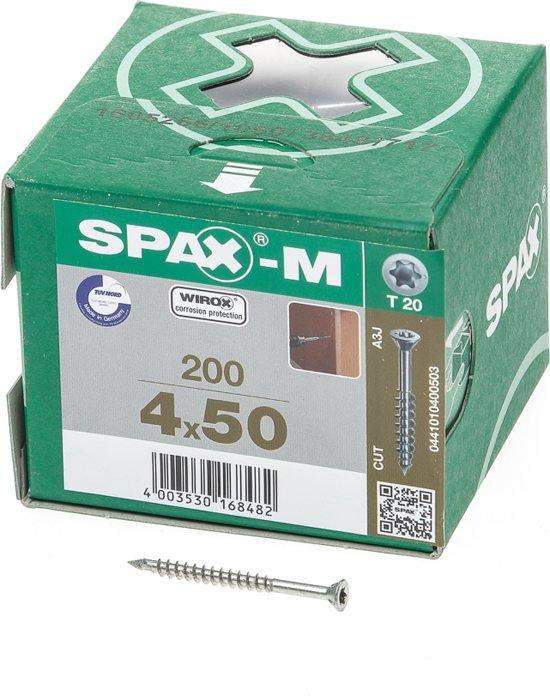 Spax Schroef MDF Verzinkt Torx 4.0 x 50 (200)