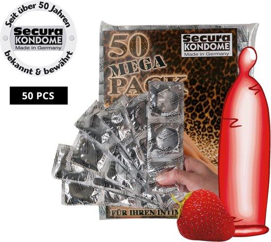 Condooms met aardbeismaak