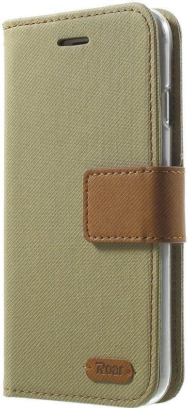 Roar - iPhone 8 Hoesje - Wallet Case Denim Khaki in Eekwerderdraai