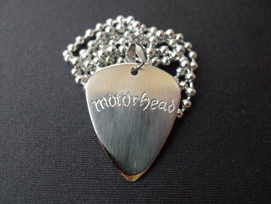 Motörhead hand gegraveerde RVS plectrum ketting