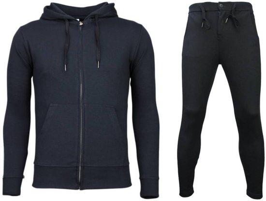 BasicSide Trainingspakken MaatM Buttons Blauw Breadamp; Lines Joggingpak AL354Rj