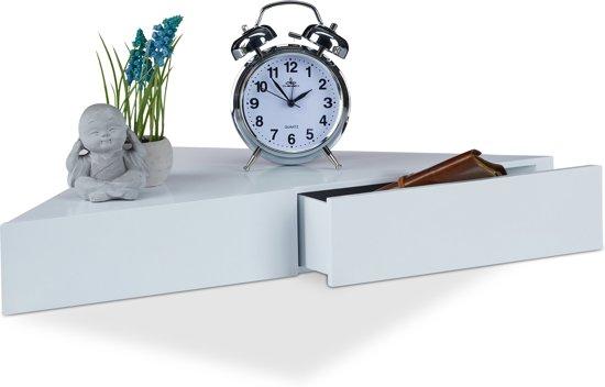 Zwevende Plank Met Lades.Bol Com Relaxdays Hoek Wandplank Fotoplank Hout Wandelement