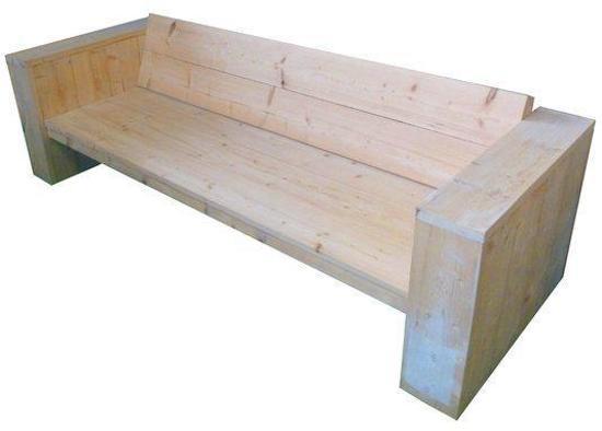 Loungebank diep bouwpakket for Bouwpakket steigerhout
