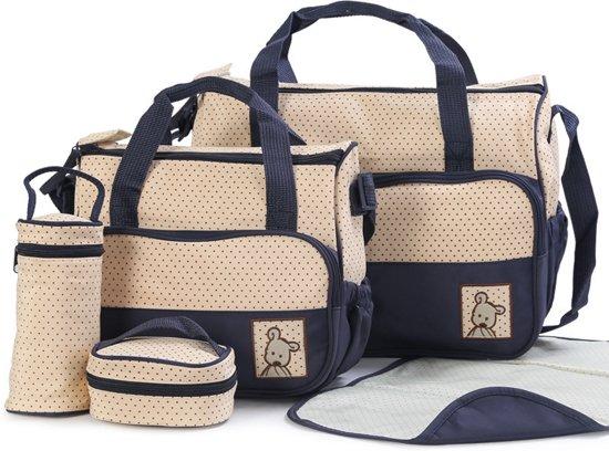 5 delig tassenset, verzorgingstas, babyverzorging