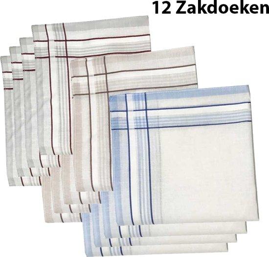 Zakdoeken - Heren - 12 zakdoeken - cadeauset - heren zakdoeken - 6