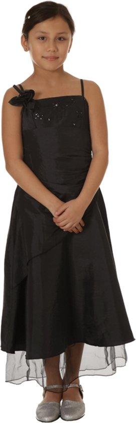 Galajurk meisjes zwart met overslag- 98/104