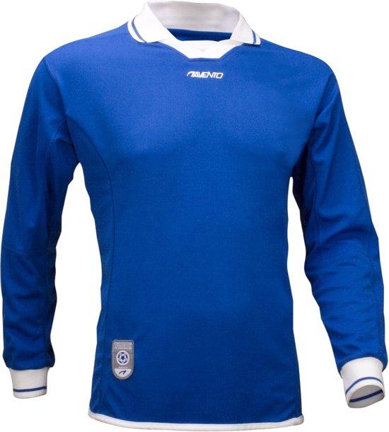 Avento Sportshirt Lange Mouw Senior Blauw/wit Maat L/xl