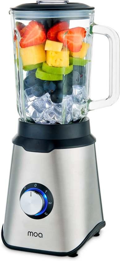 MOA Blender met glazen kan - Smoothie Maker - IJscrusher - 1,5 liter - 1000 Watt - TB61