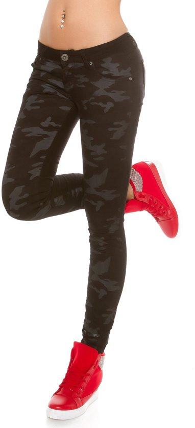 günstige Preise Kaufen Turnschuhe bol.com | Mozzaar Skinny Jeans in Camouflage Maat XS