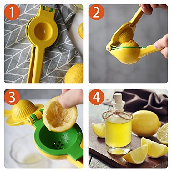 Premium Citruspers - Limoenpers - Sinaasappel pers - Juicer - Handmatige multifunctionele Fruitpers - Metaal - Cocktail tools -