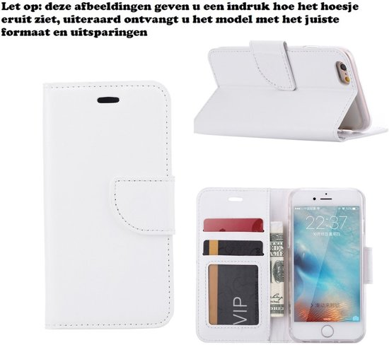 Xssive Hoesje voor Samsung Galaxy Young 2 G130 - Book Case Wit
