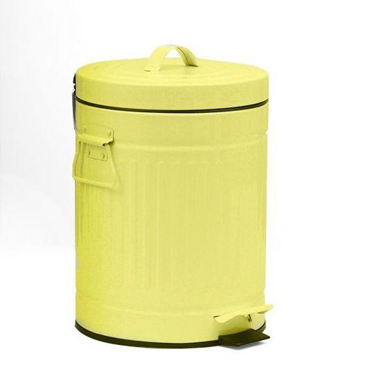 Retro vuilnisbak met pedaal blauw