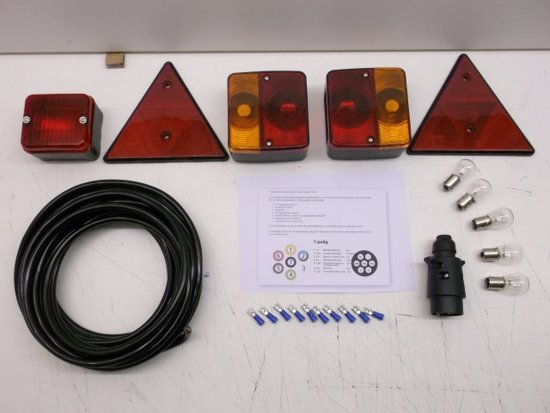 complete 23 delige aansluitset verlichting tbv aanhanger aanhangwagen