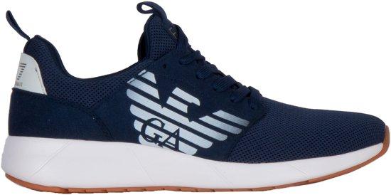 EA7 Sneakers - Maat 45 1/3 - Mannen - doker blauw/ wit