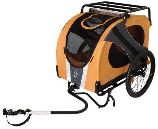 DoggyRide fietskar Novel 10 (oranje/grijs)