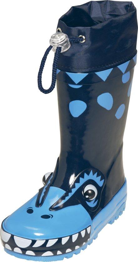 Playshoes Regenlaarzen Kinderen Dino - Blauw - Maat 34/35