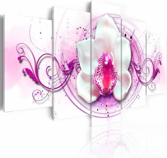Schilderij - Orchidee - Roze