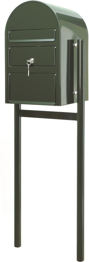 Metalen brievenbus groen - 19x46x131 cm