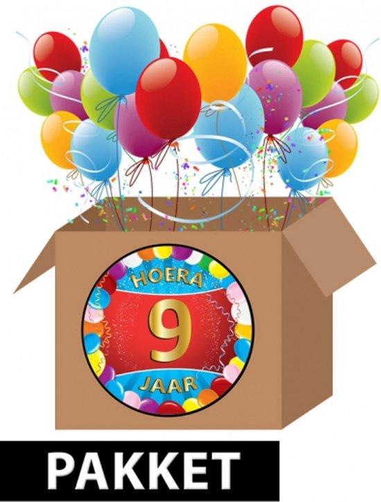 hoera 9 jaar bol.| 9 jaar versiering voordeel pakket, Fun & Feest Party  hoera 9 jaar