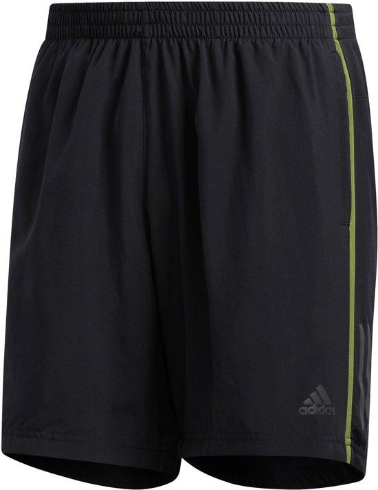 adidas OWN THE RUN SH Heren Sportbroek - black/tech olive - M