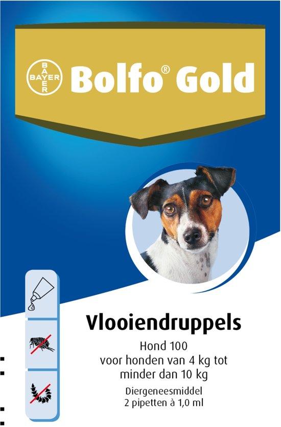 Bolfo Gold 100 Anti Vlooienmiddel Hond - 4 Tot 10 kg - 2 Pipetten