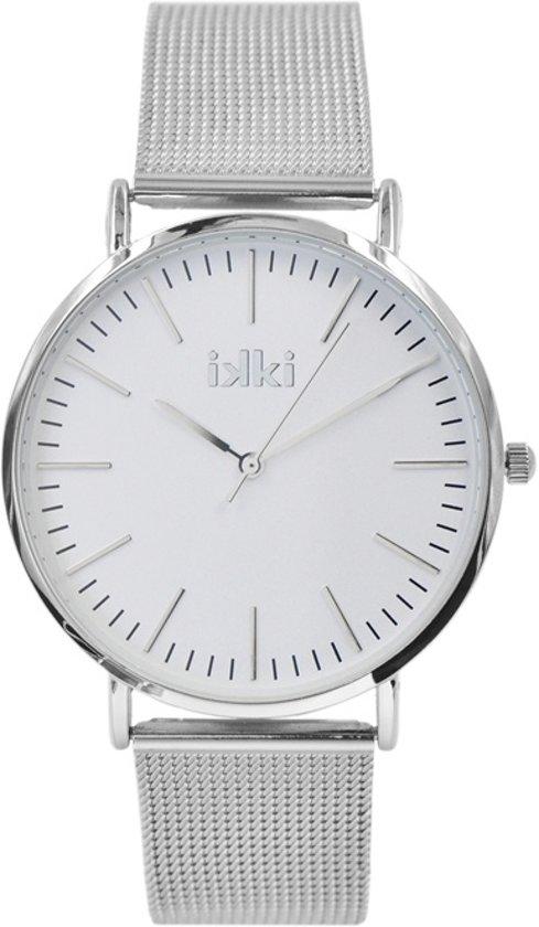 IKKI Danny DA-73 - Horloge - RVS - Zilverkleurig - Ø 41 mm