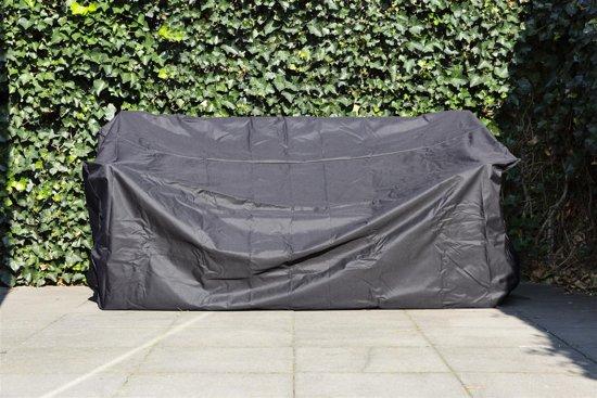 MaximaVida zwarte beschermhoes tuinbank 120 - 150 cm - Zware 600 gr/m2 uitvoering