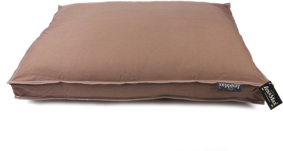 Lex & max tivoli losse hoes voor hondenkussen boxbed  90x65x9cm taupe