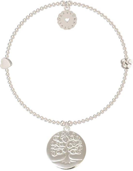 Lora di Lora Armband Bamba Bodhi Tree. Een individueel bandje 925 Sterling Zilver  17 cm