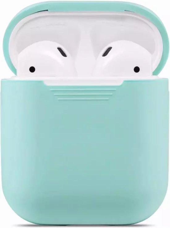 KELERINO. Siliconen hoesje voor Apple Airpods 1 & 2 - Softcase - Mintgroen