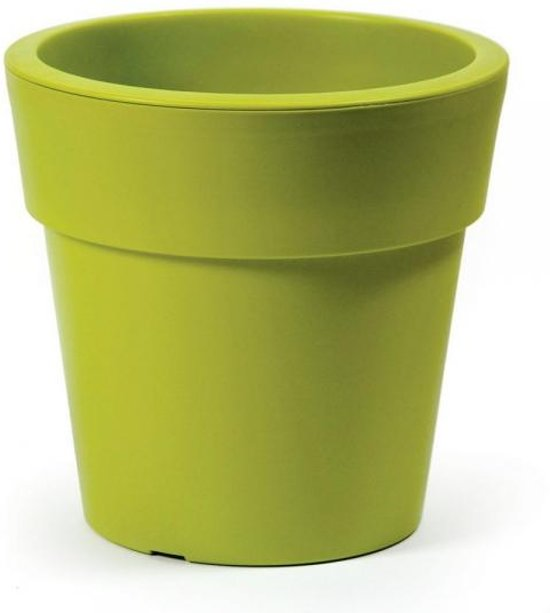 Linea bloempot – rond D45 cm–H42 cm – Limoen groen