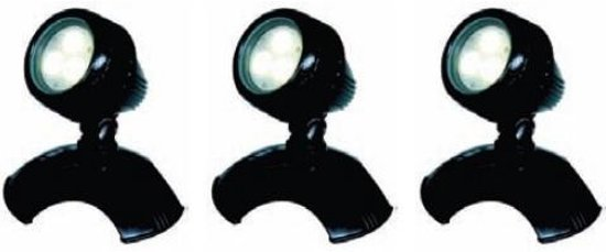 Aquaforte Pond /& Garden LED Lampen 3 x 6 Watt