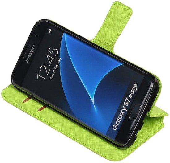 Groen Samsung Galaxy S7 Edge TPU wallet case booktype hoesje HM Book