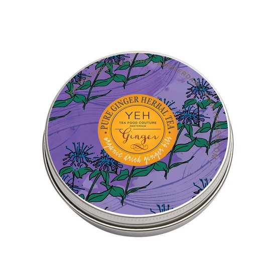 Yeh Tea - Ginger Tea - tin 45 gr - biologische gember kruidenthee
