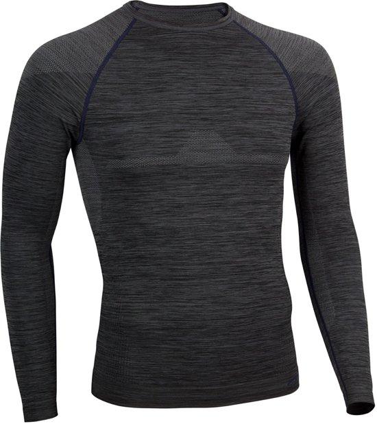 Avento Thermoshirt Heren - Superior - Zwart/Donkerblauw - M