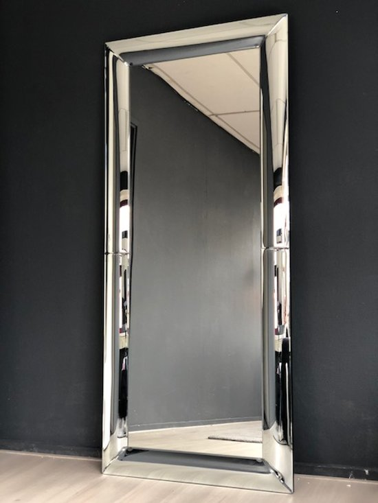 Spiegel Met Spiegelrand.Bol Com Spiegel Met Ronde Spiegelrand 90x180